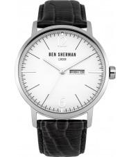 Ben Sherman WB046B Reloj para hombre de la correa de cuero negro grande es profesional portobello