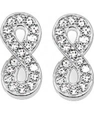 Thomas Sabo H1877-051-14 Las señoras de óxido de circonio aretes de plata pavimenta el infinito