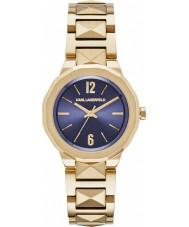 Karl Lagerfeld KL3407 Señoras de oro Joleigh plateado reloj pulsera