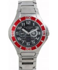 Krug-Baumen 140505KM reloj de acero negro de vanguardia