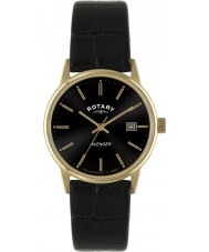 Rotary GS02877-04 Mens relojes vengador reloj color de rosa de oro negro
