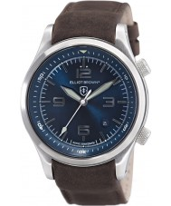 Elliot Brown 202-007-L07 Mens CANFORD reloj marrón correa de cuero