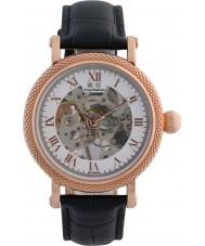 Krug-Baumen 60152DM el prestigio de cuero para hombre negro reloj de la correa