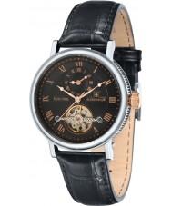 Thomas Earnshaw ES-8047-01 Mens Beaufort reloj correa de cuero negro de barro