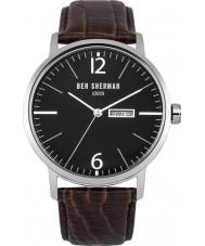 Ben Sherman WB046BR Reloj para hombre de la correa de cuero marrón grande es profesional portobello