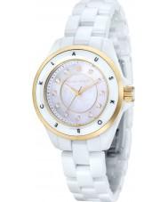 Klaus Kobec KK-10004-03 el oro de las señoras luna y el reloj de cerámica blanca