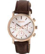 Kahuna KLS-0316L Señoras del reloj cronógrafo marrón