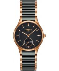 Roamer 677855-49-55-60 Damas CERALINE negro reloj de pulsera de cerámica