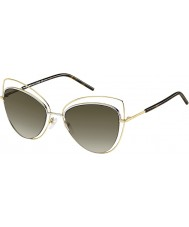 Marc Jacobs Damas marc 8-s gafas de sol oscuras Habana apq ja oro