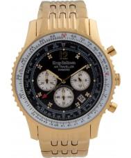 Krug-Baumen 600103DS reloj de diamantes viajero aéreo para hombre