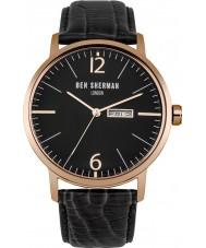 Ben Sherman WB046BRG Reloj para hombre de la correa de cuero negro grande es profesional portobello