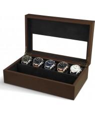 AVI-8 AV-CBOX-01 la caja de recolección de color marrón para hombre avi-8 con 5 compartimentos de relojes