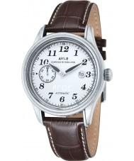 AVI-8 AV-4017-01 Mens huracán del vendedor ambulante de cuero marrón reloj de la correa