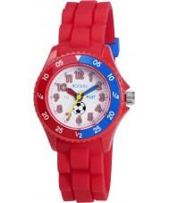 Tikkers TK0040 Niños rojo tiempo reloj maestro de fútbol