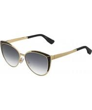 Jimmy Choo gafas de sol negras fuente de alimentación 9c oro damas domi-s