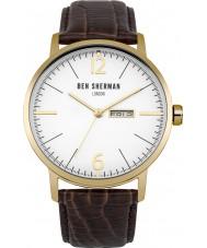 Ben Sherman WB046TG Reloj para hombre de la correa de cuero marrón grande es profesional portobello