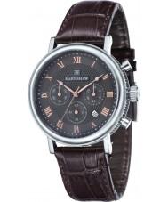 Thomas Earnshaw ES-8051-01 Para hombre reloj cronógrafo Beaufort correa de cuero marrón