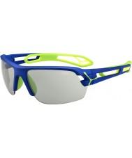 Cebe S-pista azul variochrom gafas de sol verdes oscuros medio Perfo