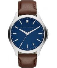 Armani Exchange AX2181 reloj de la correa de cuero de color marrón oscuro vestido de los hombres