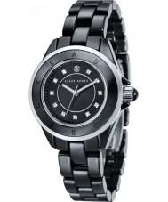 Klaus Kobec KK-10004-05 Damas de acero luna y el reloj de cerámica negro