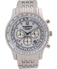 Krug-Baumen 600301DS reloj de diamantes viajero aéreo para hombre