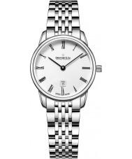 Dreyfuss and Co DLB00146-01 Las señoras reloj pulsera de acero de plata 1980