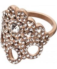 Edblad 82886 Damas Liz mate rosa anillo de oro - tamaño q (l)