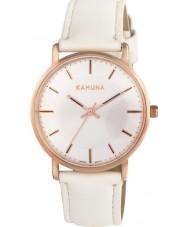 Kahuna KLS-0324L Damas blanco reloj de la correa de la PU