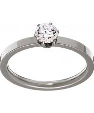 Edblad 31630132-S Señoras de la corona del anillo de acero de plata - tamaño n (s)
