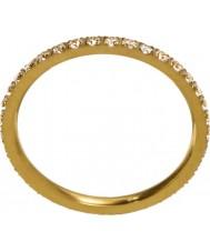 Edblad 216130153-M Las señoras brillan micro anillo de oro mate - tamaño p (m)