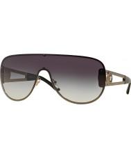 Versace iconos del rock Ve2166-41 pálido gafas de sol de oro gris degradado 12528g