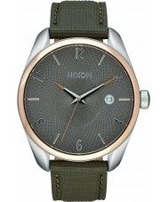 Nixon A473-2214 cuero bala damas rosa, marrón reloj de oro