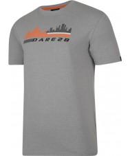 Dare2b DMT145-81I90-XXL Para hombre de escena de la ciudad ceniza gris marga camiseta - xxl tamaño