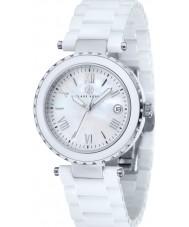 Klaus Kobec KK-10005-01 Damas venus reloj de cerámica blanca
