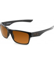 Oakley Oo9189-03 Twoface pulido negro - las gafas de sol de bronce oscuro