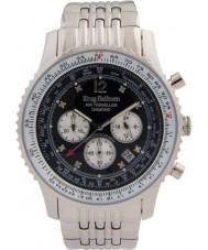 Krug-Baumen 600303DS reloj de diamantes viajero aéreo para hombre
