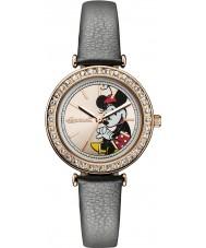 Disney by Ingersoll ID00302 Señoras de la unión de cuero gris reloj de la correa