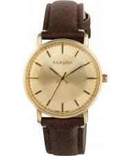 Kahuna KLS-0326L Señoras del reloj de la correa marrón de la PU
