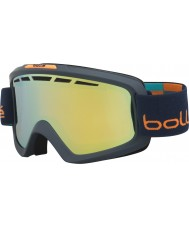 Bolle 21336 ii mate azul y naranja Nova - gafas de esquí de oro cítricos