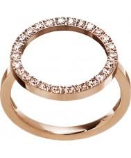 Edblad 3151441908-M Damas resplandor de oro rosa anillo plateado - tamaño p (m)