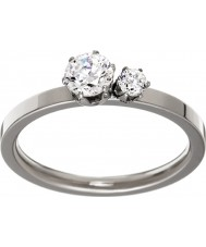 Edblad 31630133-M Damas doble corona anillo de acero de plata - tamaño de p (m)