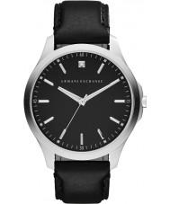 Armani Exchange AX2182 reloj de la correa de cuero negro vestido de los hombres