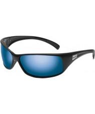 Bolle Retroceder polarizadas gafas de sol azules marinos negros brillantes