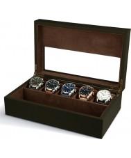 AVI-8 AV-CBOX-04 la caja de recolección avi-8 de color caqui para hombre con 5 compartimentos de relojes
