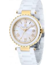 Klaus Kobec KK-10005-02 oro señoras de venus y el reloj de cerámica blanca