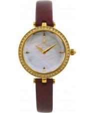 Klaus Kobec KK-10001-01 ángel de oro de las señoras del reloj plateado con bisel de cristal swarovski