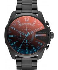 Diesel DZ4318 Mega jefe de reloj cronógrafo para hombre negro ip