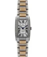 Dreyfuss and Co DLB00055-D-01 Las señoras 1974 conjunto de diamantes plata reloj de oro rosa