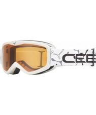 Cebe 1350D002XS Teletransportador blanco - gafas de esquí naranja