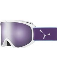 Cebe CBG60 El delantero m blanco y violeta - oscuro se levantó las gafas de esquí espejo de flash
